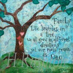 I love my family art quotes, family quotes, family trees, famili, bedroom walls, art prints, tree art, wall stickers, mixed media art