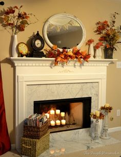 fall decor I want a  fireplace