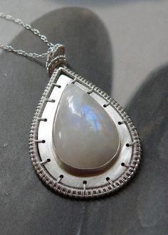 Moonstone Sterling silver pendant