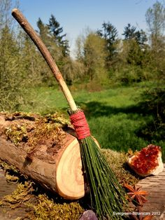 Wildcrafted Small Witch's Altar Broom Besom by EvergreenBotanical, $25.00
