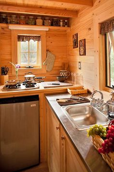 Fencl Kitchen a tiny house design from the Tumbleweed Tiny House Company
