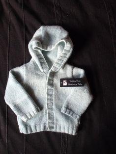 Handmade knitted baby boys hoodie cardigan in by BulldogKnits, £12.50