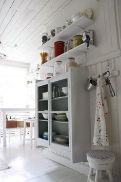 Shelves over my pantry cupboard....