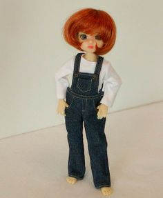 Millie in Denim Overalls by Sweet Creations Doll Fashions, via Flickr