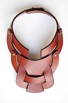 Leather necklace by Anuk Harvey anuk harvey, accessori design, statement necklaces, art, collar, leather jewelry, leather cuffs, bib necklaces, leather accessories