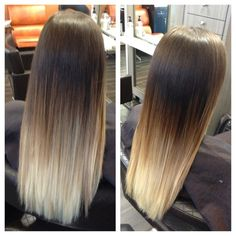 because my hair is so paper straight, I would definitely NEED to find someone who is this good at blending #ombre