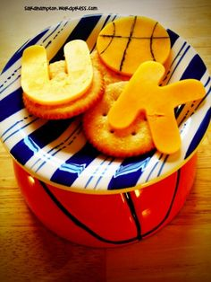 UK basketball March Madness cheese and crackers.