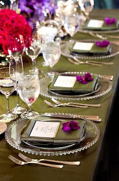 #Wedding Place Setting Idea from Bob & Dawn Davis Photography. To see more: http://www.modwedding.com/2013/09/29/photographer-of-the-day-bob-dawn-davis-photography #weddingplacesetting