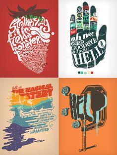 The Beatles Typographic Prints.