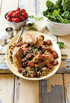 Chorizo and chicken couscous