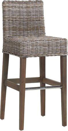contemporary rattan bar stool 686G KOK MAISON