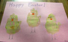 Handprint Chicks! So Cute!