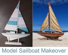 A run off the mill model sailboat (with made in China sticker) gets an overhaul! By Farragoz: http://farragoz.blogspot.com/2014/03/fancy-spin-on-my-new-sailboat.html