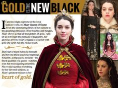 It's #FashionFriday and M'Lady highlights Mary's true colors. #Reign #fashion #beauty #style