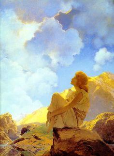 maxfield parrish, maxfieldparrish, inspir, paint, beauti, artist, mornings, illustr, maxfield parish