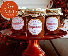 Pumpkin Butter Recipe and FREE Printable from @Deanna at Mirabelle Creations | #thanksgiving #hostessgift #pumpkin #freeprintable