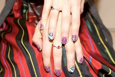 dress up your nails for a cause {love these ncla nail decals}