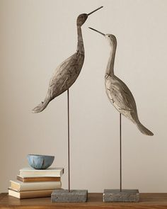 Wooden Shore Birds at Garnet Hill.
