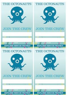The Octonauts Printable Party VIP Badges by jlaidlaw on Etsy, $5.00