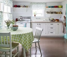 traditional kitchen with shiplap
