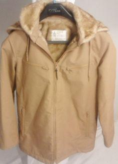 London Fog Coat Women's Size 9/10,Faux Coat Fur Lined with Hood