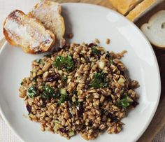 Cranberry and Kale Farro Salad