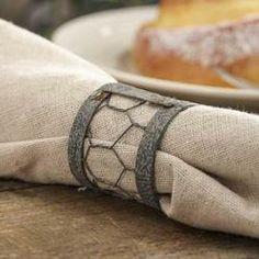 wire napkin, napkin rings, napkin holders