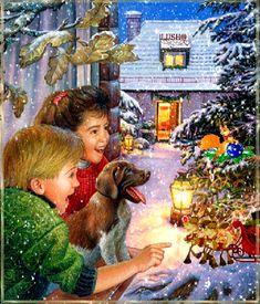 Детская новогодняя открытка 2014