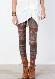 Aztec Print Knit Leggings. all anyone wears in Argentina.