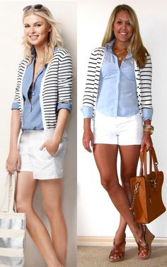 short, everyday fashion, style, fashion outfits, fashion blogs, white pants, summer outfits, stripe, shirt