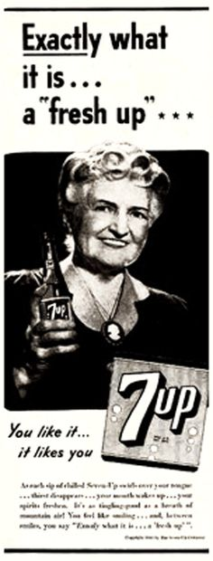 '...what it is ... a 'fresh up'' c. 1934 #7up