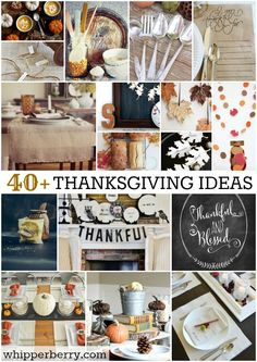 40+ Thanksgiving ideas