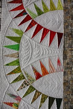 close up, Data Garden by Belinda Betts.  Excellence in Longarm Quilting (Open) Award, Sydney Quilt Show 2014.  Posted at Quilters Guild NSW.