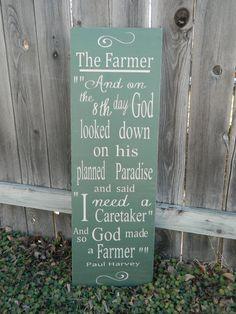 So GOD made a farmer  Paul Harvey 12x36 by CountryFolksCreation, $78.00