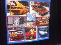 Banner showing the history of the Chicago Auto Show in the 70's. The images of the American Motors area is from 1975. I know because I was there and had a 75 Pacer:)