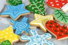"Do you like the look of bright, shiny cookies? Check out our video demonstration, ""How to Use Color Flow Icing."""