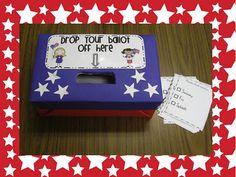 Voting ballots and label classroom idea, elect, boxes, family activities, class idea, educ, families, classroom pet, social studi