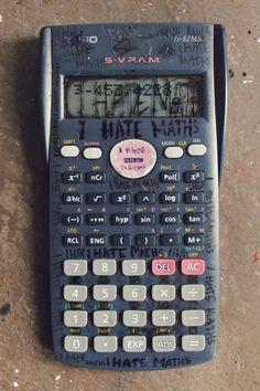 I Really hate maths