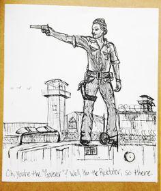 Walking Dead Funny Card, walking dead inspired, funny cards, funny birthday card, Rick Grimes, Rictatorship, October, Walking Dead Season on Etsy, $5.00