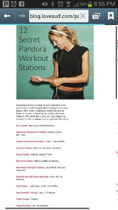 Pandora workout stations on pinterest workout songs 2014 workout