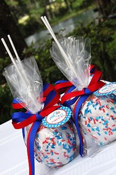 July 4th candy apples