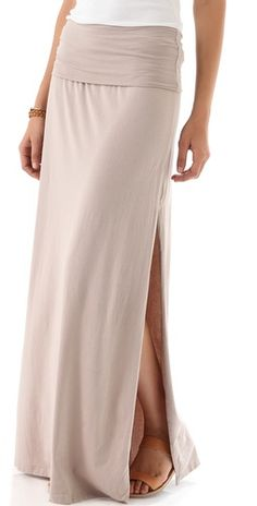 A must have for any wardrobe. A maxi skirt in neutral. Mix with whites, blushes, or pop of bright color like orange, reds, or turquoise or chocolate browns. Again, a MUST HAVE for ANY wardrobe.