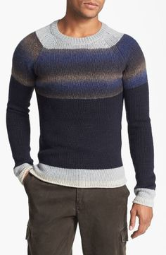 Graduated stripe sweater