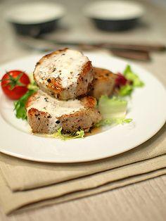 Polędwiczki wieprzowe z sosem z sera pleśniowego