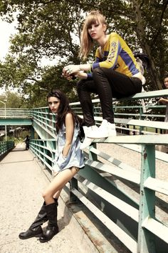Steve Madden Goes Back to School with Fall 2012 Styles #fall #campaign #stevemadden #2012 #brunette #models #blonde #fashion #rock #young #style #fashionstyle #school