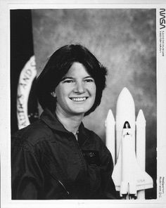 Sally Ride, 1980. On June 18, 1983, Dr. Sally Ride became the first American woman to fly in space. She was named a mission specialist on the seventh flight of the Space Shuttle Challenger in 1983 and flew on a second mission in 1984. Following the 1986 Challenger disaster, Ride served on the investigation committee. She left NASA in 1987 to pursue an academic career. Photo courtesy of NASA. NASM-97-15070