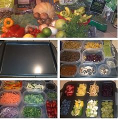 Home Salad Bar! Great idea from @engine2diet