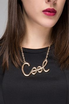 Necklace with cool - FrontRowShop
