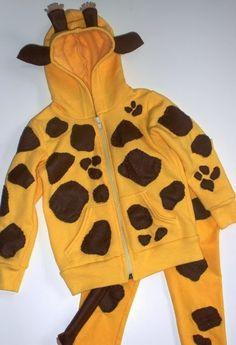 Disfraz de jirafa con sudadera