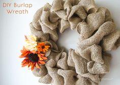 Craftaholics Anonymous® | Burlap Bubble Wreath Tutorial {EASY!}